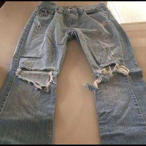 Abercrombie jeans with flare bottom
